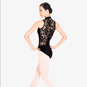 Natalie Dancewear Other - Natalie Leotard Black Small Zipper Lace Back